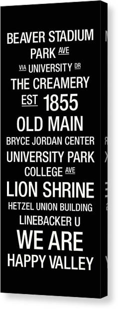 Penn State University Canvas Print - Penn State College Town Wall Art by Replay Photos