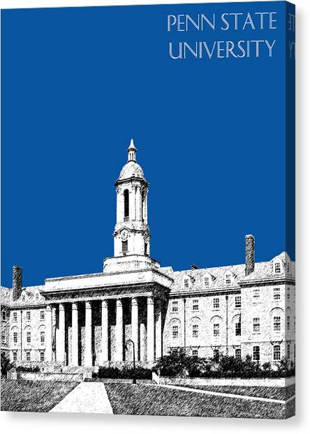 Pennsylvania State University Canvas Print - Penn State University - Royal Blue by DB Artist