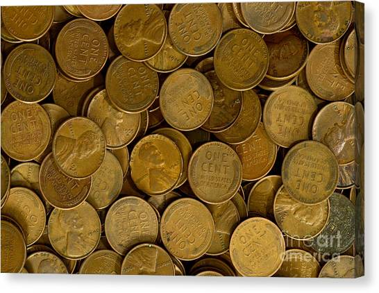 Pennies Canvas Print