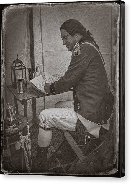 Penning A Letter To King George The Third   Canvas Print