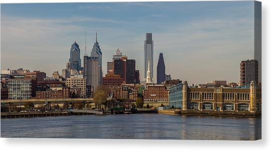 Ben Franklin Canvas Print - Penns Landing by Capt Gerry Hare