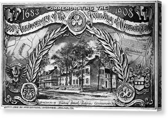 Pennsylvania Germantown Canvas Print by Granger