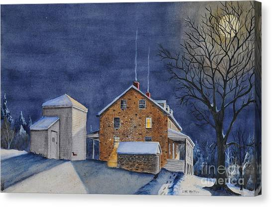 Pennsylvania Moon Canvas Print