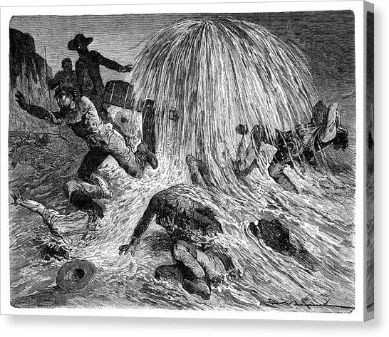 Drake Canvas Print - Pennsylvania Oil Rush by Science Photo Library