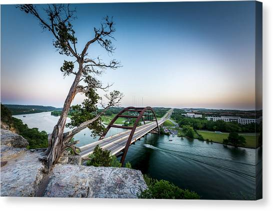 Pennybacker Bridge Austin Canvas Print