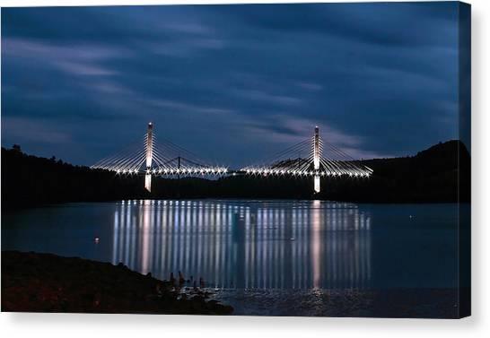 Penobscot Narrows Bridge And Observatory At Night Canvas Print