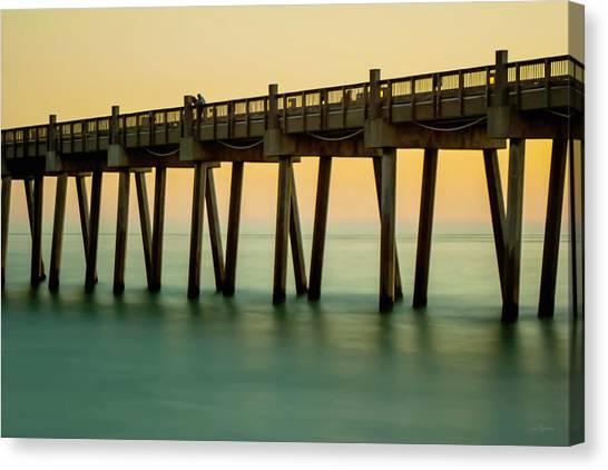 Pensacola Beach Fishing Pier Canvas Print