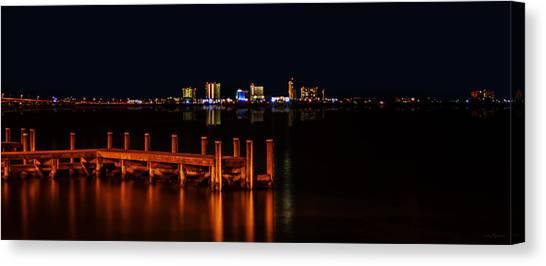 Pensacola Beach Reflections Canvas Print