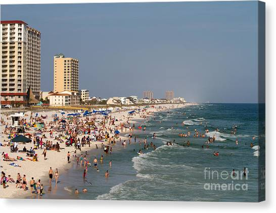 Pensacola Beach Tourists Canvas Print