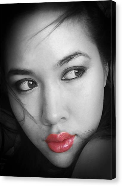 Pensive Beauty Canvas Print