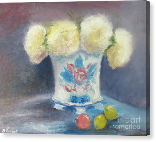 Canvas Print - Peonies In China Vase by Barbara Anna Knauf