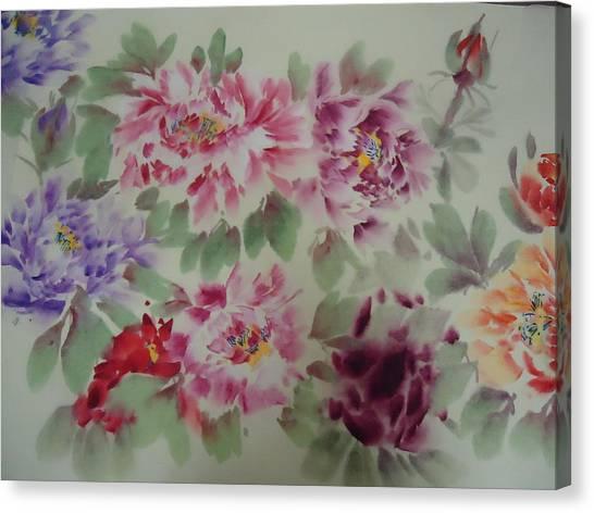 Peony  0725-5 Canvas Print