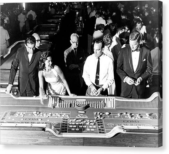 People At Craps Table Canvas Print by Richard Waite