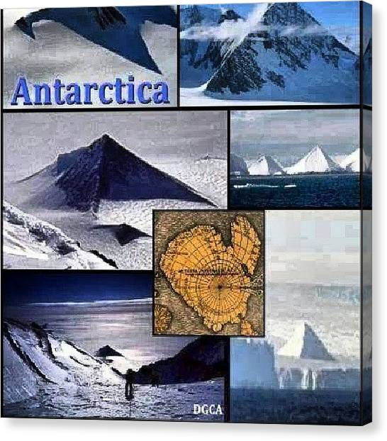 Antarctica Canvas Print - People Claim There Are Pyramids In The by Brandon Fisher