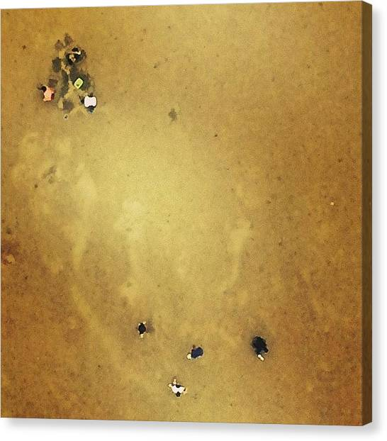 Milk Canvas Print - People Digging Out Insects From Wet by Milk Spoon