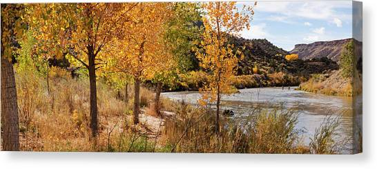 Rio Grande River Canvas Print - People Fishing In The Rio Grande River by Panoramic Images