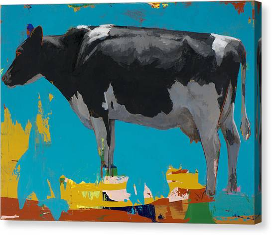 Cow Canvas Print - People Like Cows #15 by David Palmer