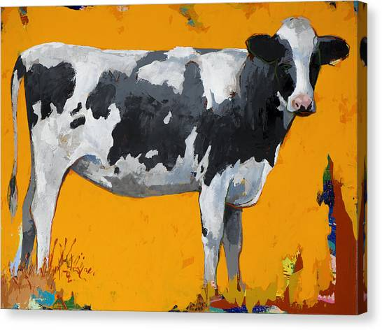 Cow Canvas Print - People Like Cows #16 by David Palmer