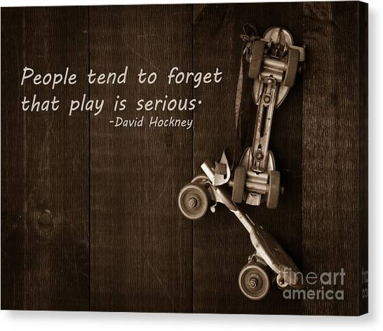 Roller Skating Canvas Print - People Tend To Forget That Play Is Serious by Edward Fielding