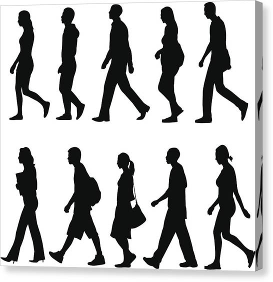 People Walking Canvas Print by Rangepuppies
