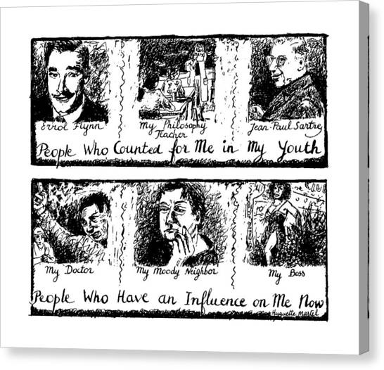 Influence Canvas Print - People Who Counted For Me In My Youth. People Who by Huguette Marte