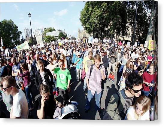 Climate Change Canvas Print - People's Climate March by Victor De Schwanberg