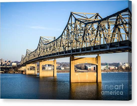 American Steel Canvas Print - Peoria Murray Baker Bridge In Illinois by Paul Velgos