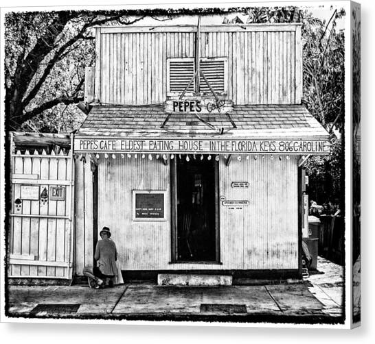 Pepes Cafe Canvas Print