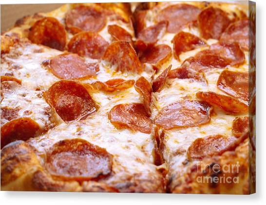 Pepperoni Pizza 1 - Pizzeria - Pizza Shoppe Canvas Print