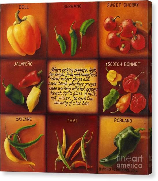 Pepper Facts  Canvas Print