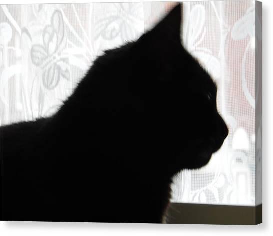 Pepsi Cat Silhouette Canvas Print