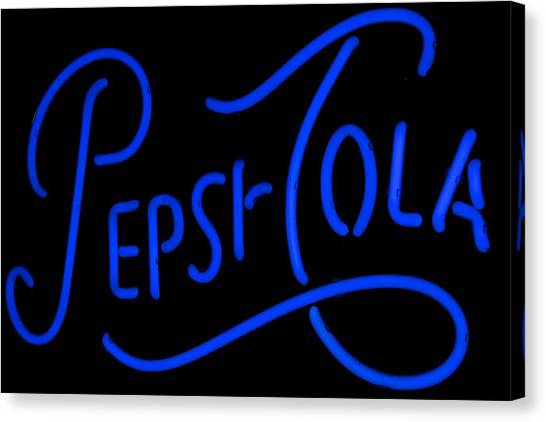 Pepsi Cola Neon Canvas Print