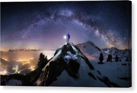 Mountain Climbing Canvas Print - Per Aspera Ad Astra by Dr. Nicholas Roemmelt