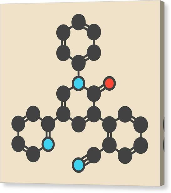 Perampanel Epilepsy Drug Molecule Canvas Print by Molekuul