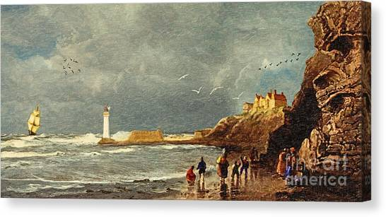Imagery Canvas Print - Perch Rock - New Brighton 1829 by Lianne Schneider