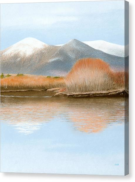 Percy Peaks Canvas Print by Bruce Richardson