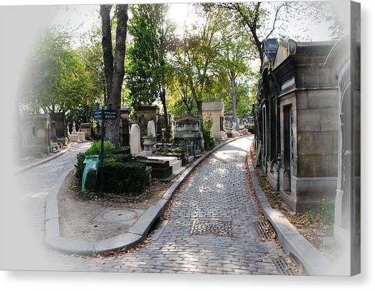 Pere Lachaise Cemetery Paris Canvas Print by Jacqueline M Lewis