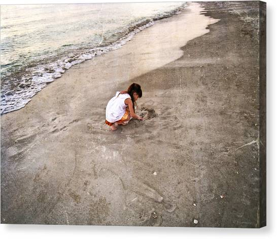 Sand Castles Canvas Print - Perfect Company by Sharon Cummings