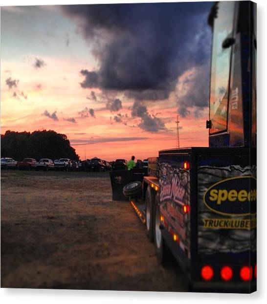 Dodge Canvas Print - Perfect Day For Some Diesel Powerfest by Jd Long