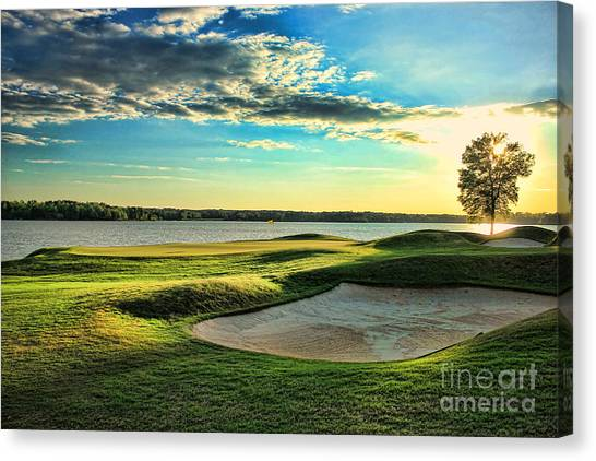 Perfect Golf Sunset Canvas Print