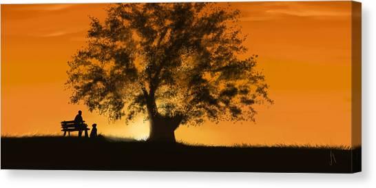 Orange Tree Canvas Print - Perfect Moment by Veronica Minozzi