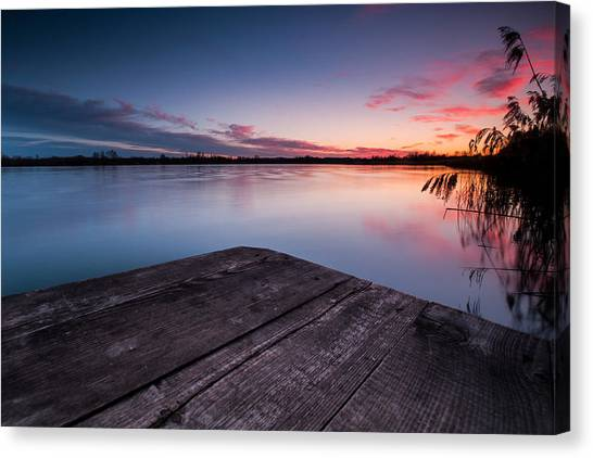 Lake Sunsets Canvas Print - Perfect Place by Davorin Mance