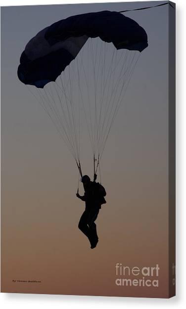 Perfect Sunset Landing Canvas Print