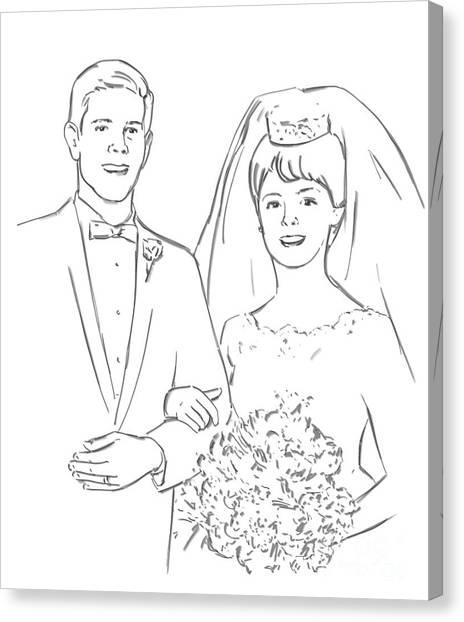 Perfect Wedding Canvas Print