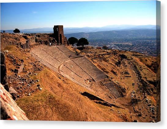 Pergamum - Theatre Canvas Print by Jacqueline M Lewis