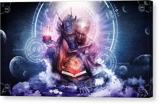 Dragon Canvas Print - Perhaps The Dreams Are Of Soulmates by Cameron Gray