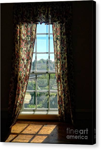 Window Canvas Print - Period Window With Floral Curtains by Edward Fielding