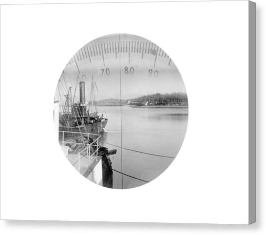 Periscope View, Early 20th Century Canvas Print by Science Photo Library