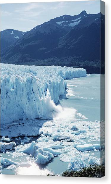Perito Moreno Glacier Canvas Print - Perito Moreno Glacier And Lake by Tui De Roy
