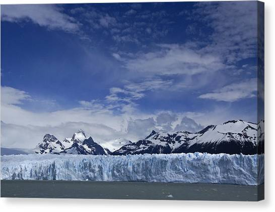 Perito Moreno Glacier Canvas Print - Perito Moreno Glacier And The Andes by Michele Burgess